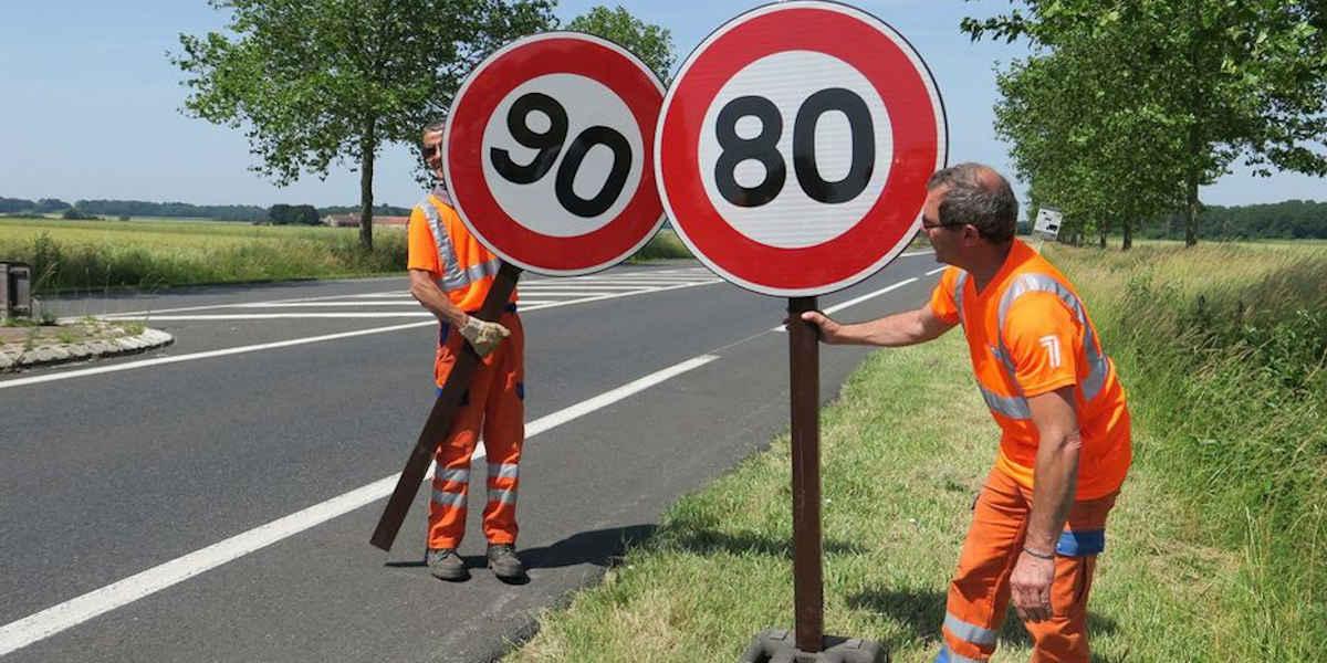 La Charente-Maritime va repassé en partie au 90km/h
